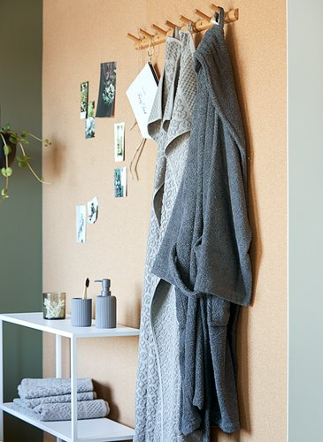 Bathrobe TIMMERDALA S/M dark grey