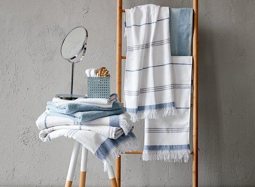 Хавлиена кърпа KARLSTAD 70x140 неб.синя