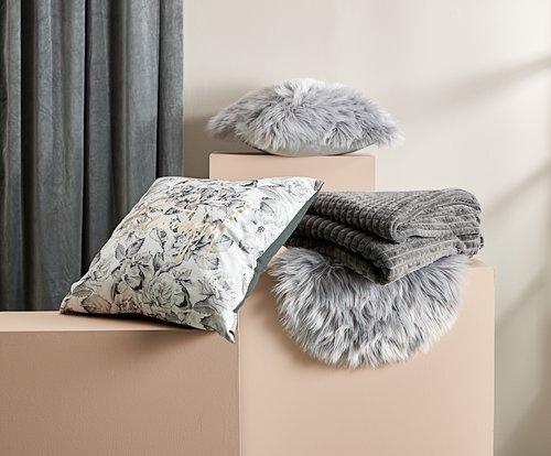 Cushion TAKS 40x40 fake fur grey