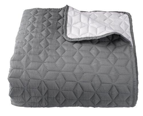 Sengeteppe ROSENTRE 240x260 grå/mørk grå