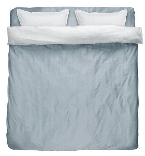 Пост. белье GUNHILD 2СП серый/белый