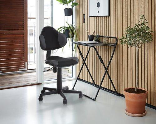 Písací stôl IKAST skladací čierny