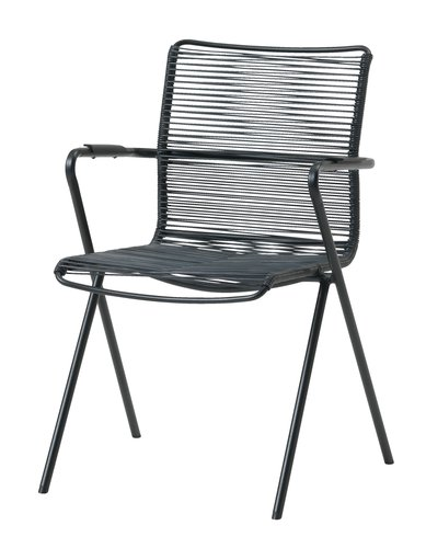 Stacking chair UBBERUP black