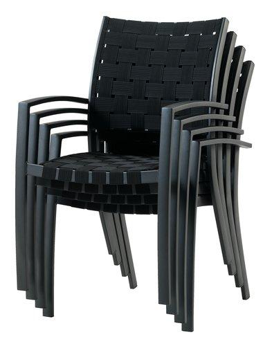 Stacking chair JEKSEN black
