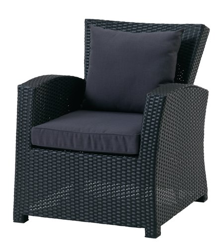 Vrtni lounge stol LANGET črna