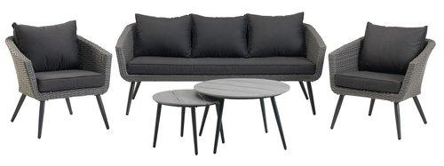 Комплект мебели VEBBESTRUP 5 места, сив