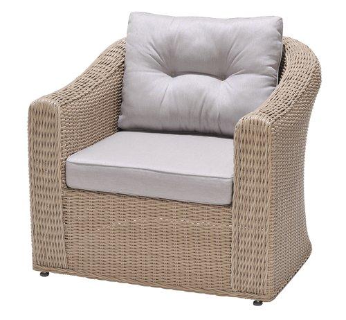 Sedia lounge TAMBOHUSE naturale