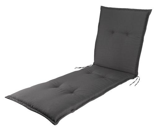 Cushion sunlounger FUGLSAND d.gry