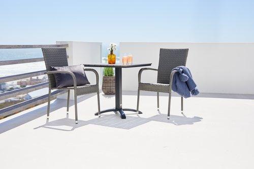 Baštenska stolica GUDHJEM siva