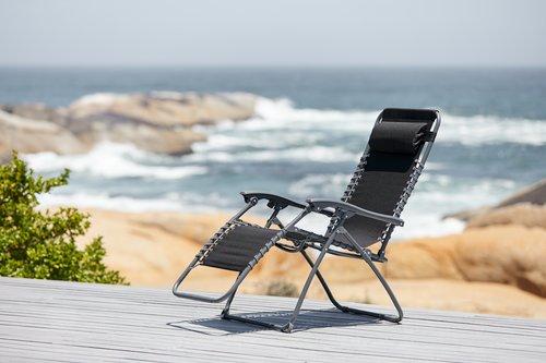 Krzesło wypoczynkowe HALDEN czarne