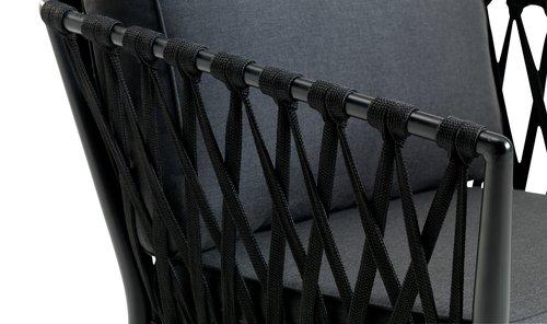 Set terasă HOLTE 4 pers. negru