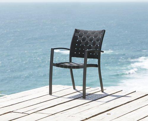 Vrtna stolica JEKSEN crna