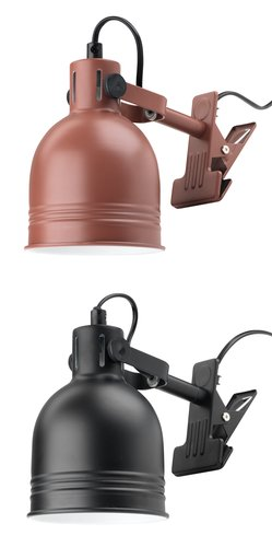 Clamp lamp THEODOR D11xH14cm asstd.