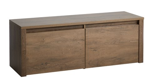 Bench VEDDE 2 drawers wild oak