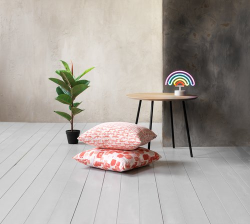 Cushion LIND 45x45 coral/white
