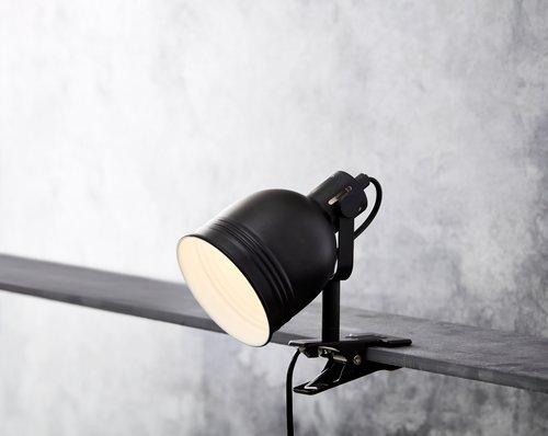 Klemlamp THEODOR Ø11xH14 zwart