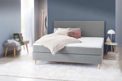 Boxsp.postelja 180x200 BASIC C10 Siva-23
