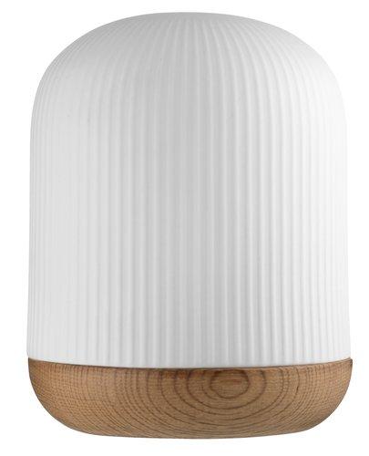 Batterilampe FLORIAN Ø12xH15cm m/LED