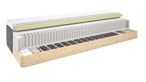 Madrass GOLD B30 180x200 memory grå-40