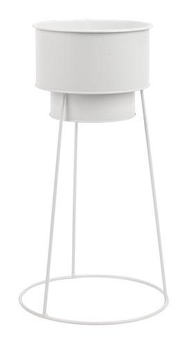 Maceta FERGUS Ø20xA47cm blanco