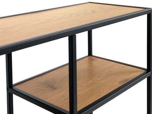 Shelving unit TRAPPEDAL 5 shel.oak/black
