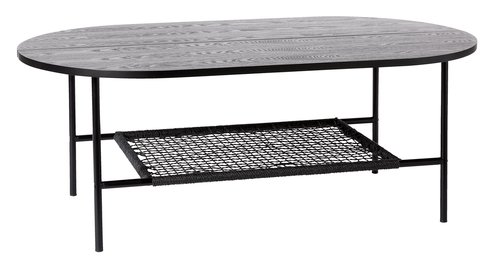 Coffee table HINNERUP 75x120 black