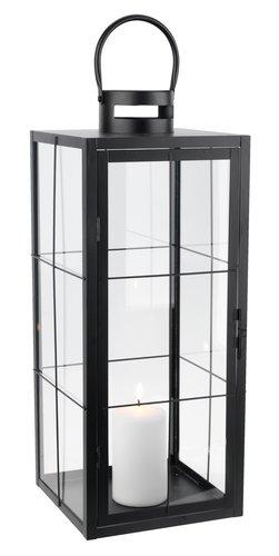 Lantern VILLADS W20xL20xH50cm black