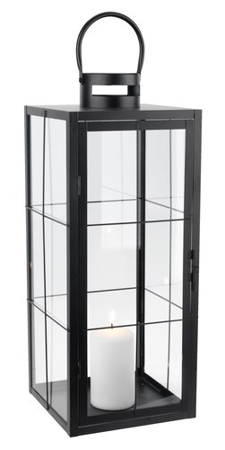 Lanterne VILLADS B20xL20xH50cm sort