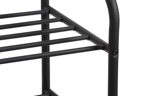 Shoe rack HALS 4 shlv. black