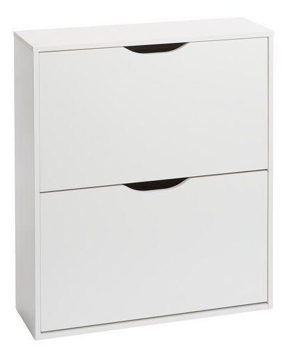 Shoe cabinet IDSKOV 2 compartments white