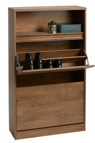 Shoe cabinet VEDDE 2 comp. wild oak