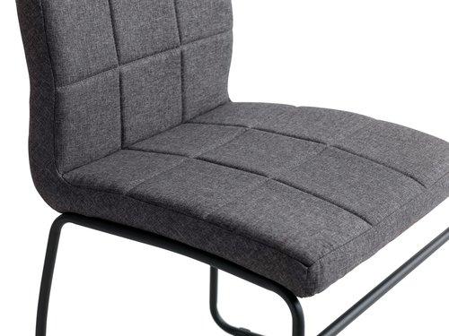 Trpezarijska stolica HAMMEL siva/crna