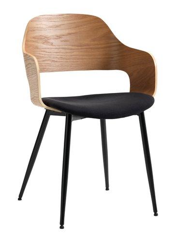 Trpez. stolica HVIDOVRE natur/crna