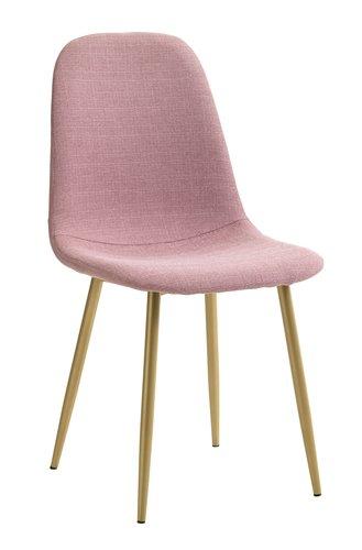 Dining chair JONSTRUP rose/gold