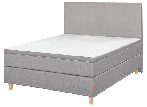 Sänggavel 120 GOLD H30 slät grå