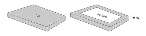 Ζέρσεϊ σεντόνι 140/150x200x25cm γκρι