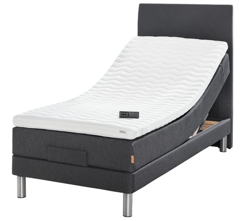 Elektr bed 90x210 GOLD E40 latex Grijs40