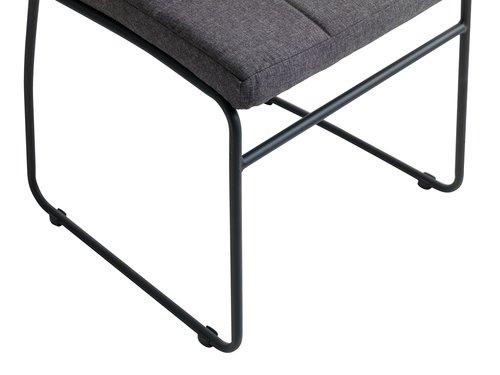 Blag. stolica HAMMEL siva/crna