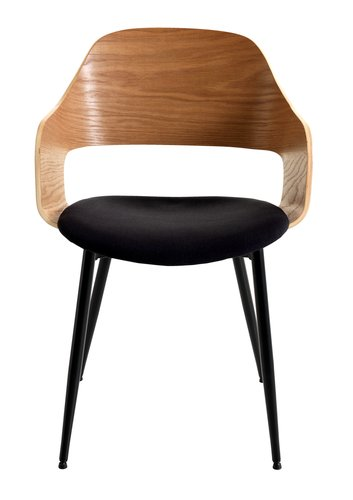 Jedilniški stol HVIDOVRE naravna/črna