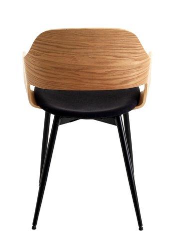 Καρέκλα τραπεζ. HVIDOVRE φυσικό/μαύρο