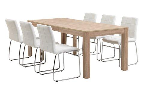 Miza HALLUND D294 + 4 stoli HAMMEL