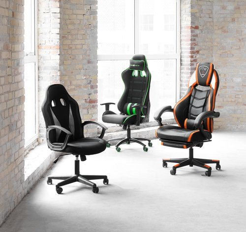 Gaming chair LAMDRUP black/green