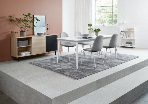 Jedálenský stôl LANGDAL 90x190 biela