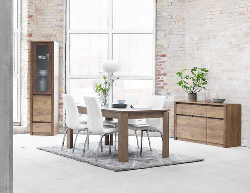 Dining table VEDDE 90x160 wild oak