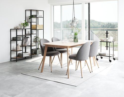 Dining chair KOKKEDAL grey/oak