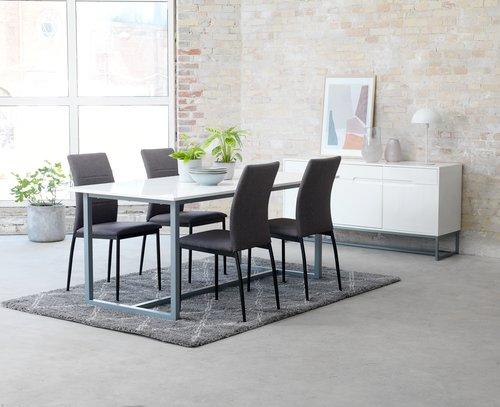 Matbordsstol TRUSTRUP grå/svart