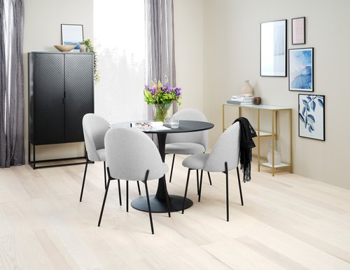 Dining table RINGSTED D100 black
