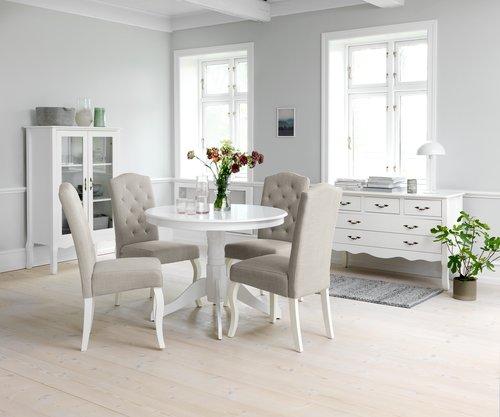 Spisebordsstol STENLILLE sand/hvid