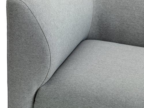 Canapea KARE sezlong stânga gri deschis