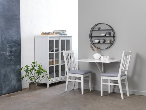 Ruokapöydän tuoli NORDBY valk./harmaa